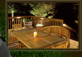 Yards By Us - landscape lighting enhances outdoor areas