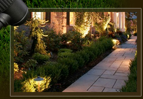Yards By Us landscape lighting adds dimension to homes and landscapes